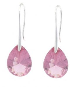 Pink Angel Teardrop Swarovski Elements Crystal Earrings